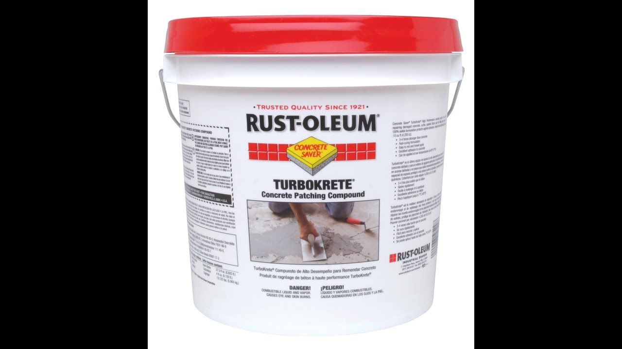 Floor Patching Compound : Rust oleum industrial turbokrete training video youtube