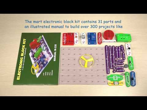 Vrihuck W-335 Educational Circuits Electronics Discovery Kit Snap Component Science Educational Toy