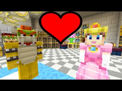 Minecraft Wii U - Super Mario Series - Peach is Evil and Loves Bowser! [116]