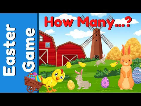 Easter Game For Kids   How Many Bunny Rabbits?