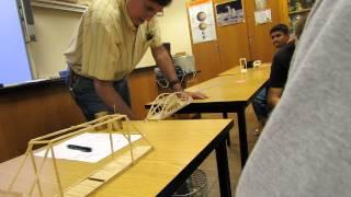 Toothpick Bridge Competition. I WON!!!