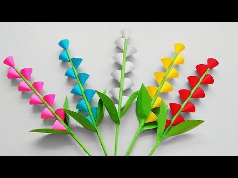 Easy And Beautiful Paper Flower Making Diy Paper Flower Craft Bunga Kertas Mudah Sederhana Youtube