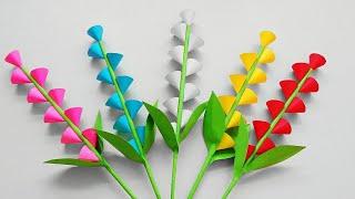 Download Easy and beautiful paper flower making   DIY paper flower craft    Bunga Kertas  Mudah & Sederhana Mp3