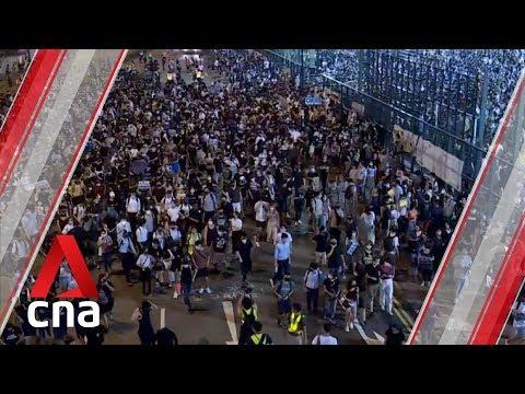 hong-kong-protesters-block-roads-in-tsuen-wan,-causeway-bay