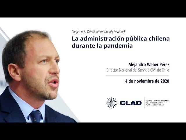 #WebinarCLAD La administración pública chilena durante la pandemia