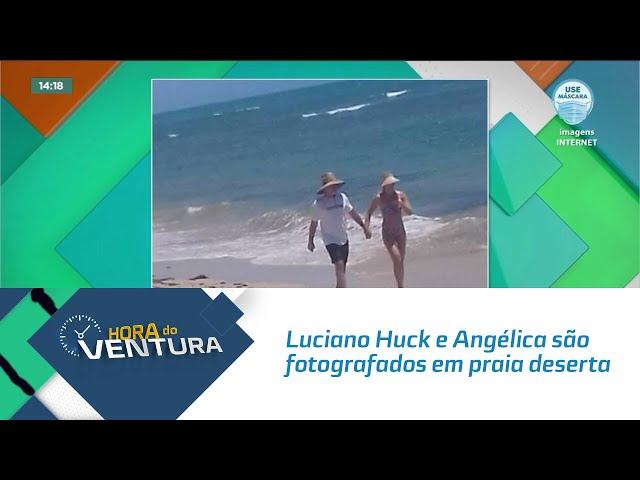 Luciano Huck e Angélica são fotografados em praia deserta de trancoso