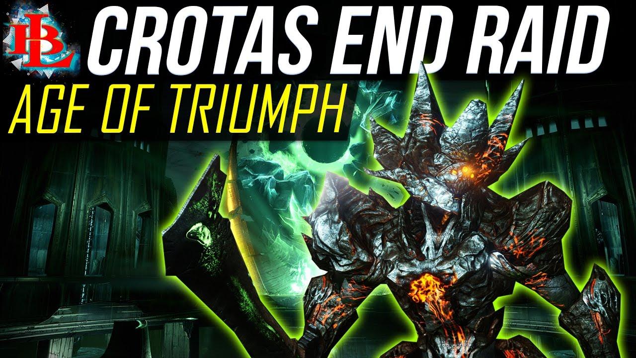 destiny age of triumph crota's end raid walkthrough | quest