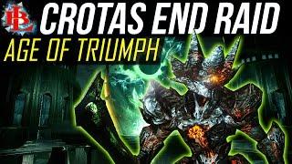 Destiny Age of Triumph Crota's End Raid Walkthrough   Quest   Weapons   Gear