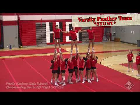 Perth Amboy High School    Cheerleading Send Off Night   2 29 20