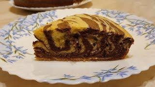 Пирог ЗЕБРА Торт Зебра🍰Пошаговый Простой  рецепт торта