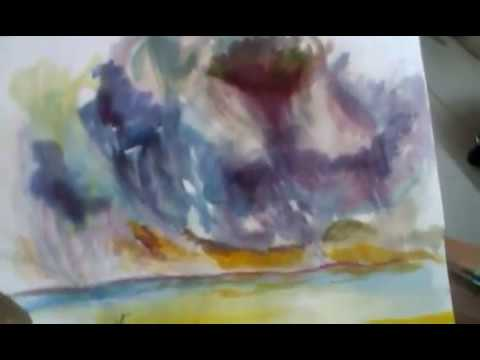 WATER COLOR LANDSCAPE DEMONSTRATION BY ARTIST- BHANU DUDHAT