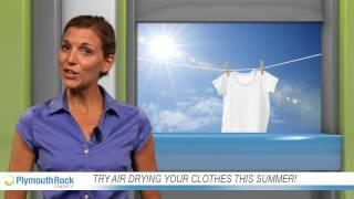 Try air drying your clothes this summer!