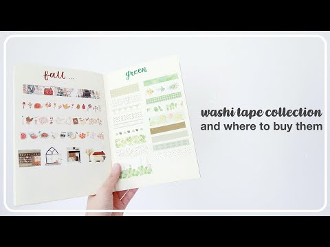 ☁️ Swatching My Washi Tape Collection & Where To Buy Them | Maiden Manila
