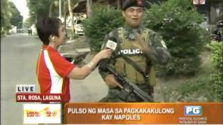 WATCH: Doris Bigornia talks to guards at Fort Sto. Domingo