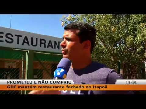 JL - Restaurante Comunitário do Itapoã segue fechado