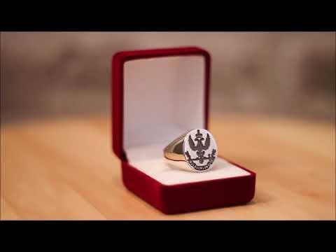 Silver Masonic Signet Ring - Scottish Rite 33rd degree, Deus Meumque Jus