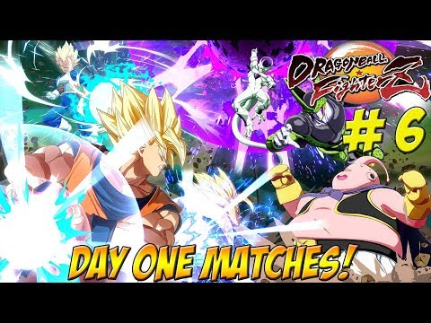 Dragonball FighterZ Beta! Day One Matches Part 6 - YoVideogames