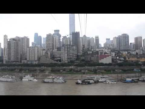 Crossing the Yangtze River in Cable Car