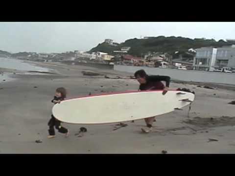 3才でもサーフィンできるよ〜♪