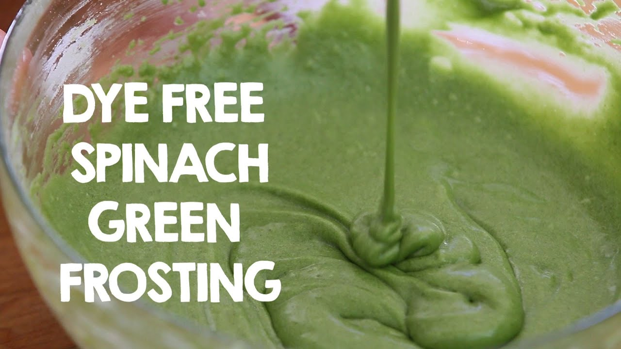 Dye free spinach frosting recipe - YouTube