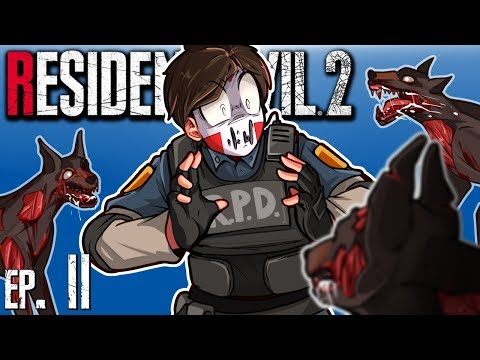Resident Evil 2 - FIRST BOSS FIGHT, LICKERS &  ZOMBIE DOGS?! Ep. 2