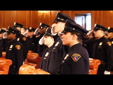 Cleveland's 136th Police Academy class graduates and sworn into the Cleveland Police Department