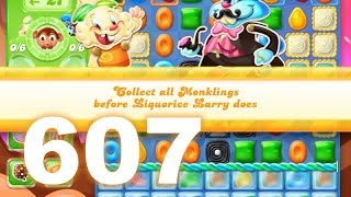 Candy Crush Jelly Saga Level 607 (No boosters)