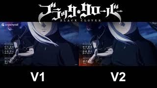 Gambar Black Clover Op 9 Comparison  Versions 1-2