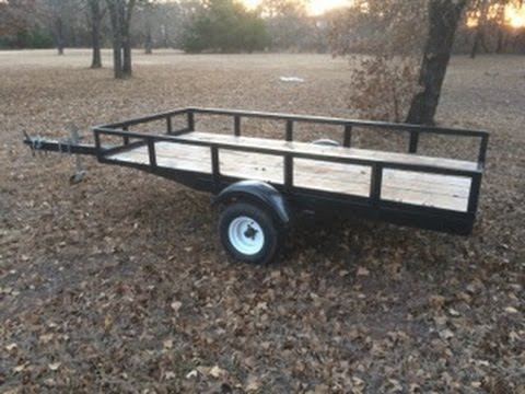 Boat Trailer to Utility Conversion Part 5 - YouTube