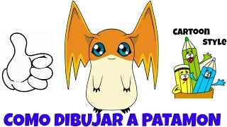 Como Dibujar a Patamon - How to Draw Patamon - Digimon - Cartoon Style