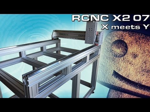 RCNC X2 Router 07: X- Axis meets Y-Axis
