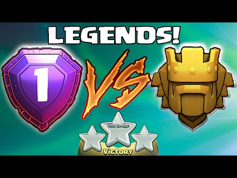 Clash Of Clans - LEGENDS PLAYER Vs. TiTAN PRO GAME PLAY!! (W/ Titan player 3 star!!)