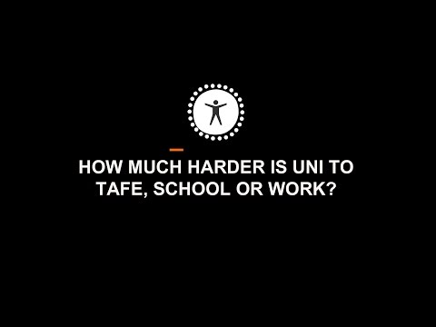 How much harder is University to TAFE, school or work?