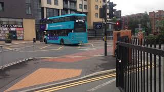 Arriva Yorkshire 1577 leaving Leeds city bus station