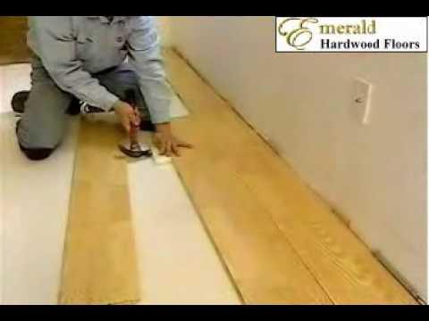 Floating Floor Installation for engineered hardwood flooring