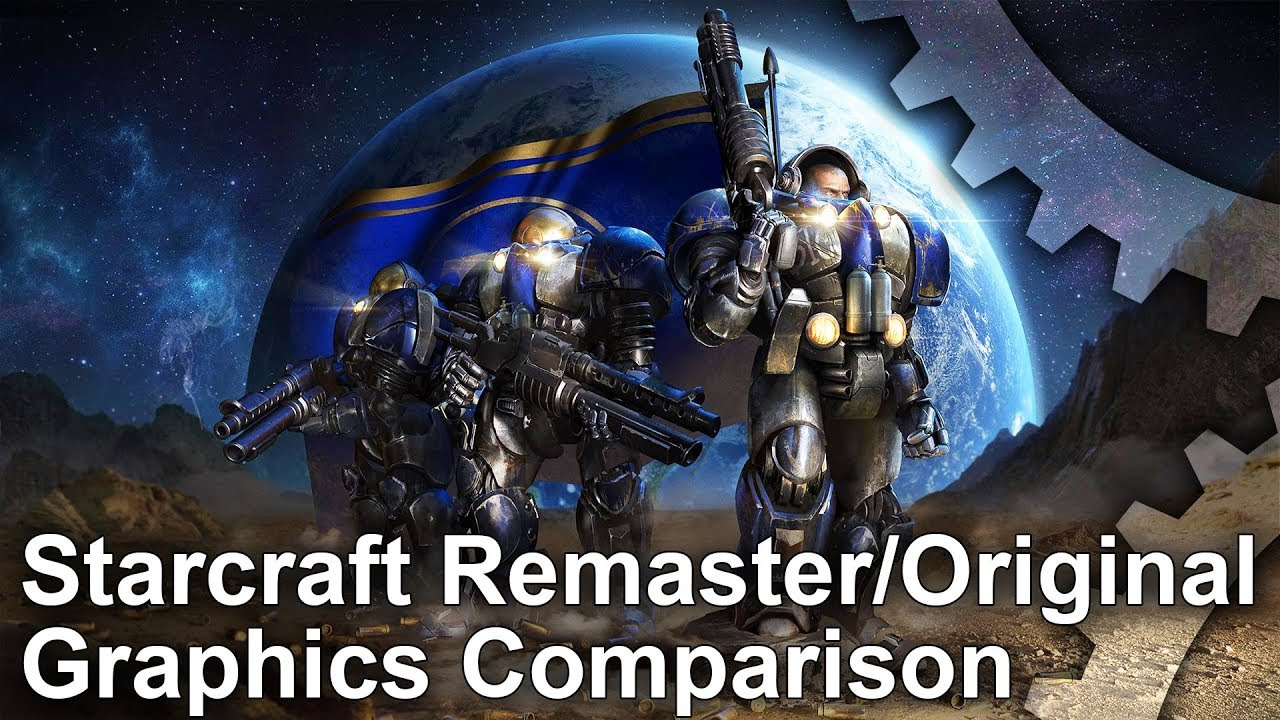 Starcraft Remastered vs Original Graphics Comparison #1