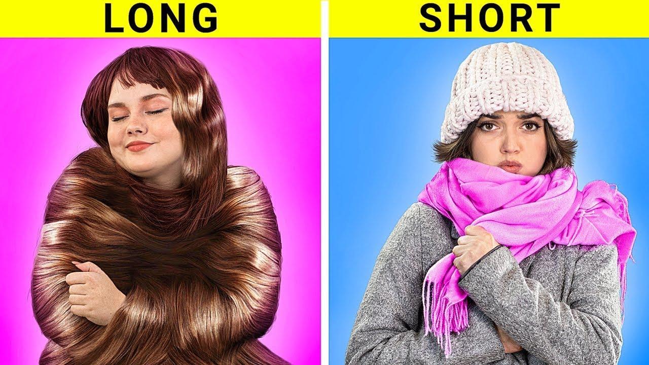 Lange Haare vs. Kurze Haare Probleme / Leben mit sehr