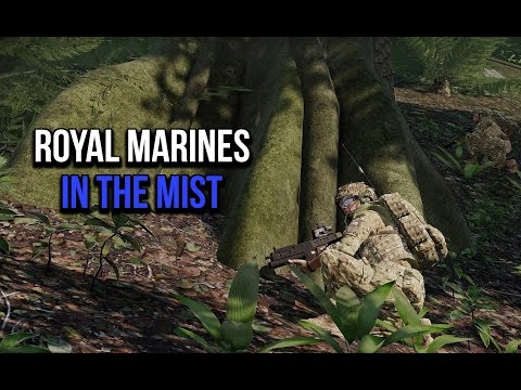 3CB ArmA 3: Royal Marines in the mist.