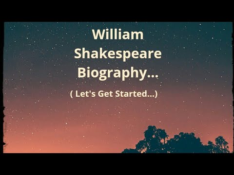 William Shakespeare || Biography In Hindi || Author, Playwright || Mini Bio# Let's Get Started