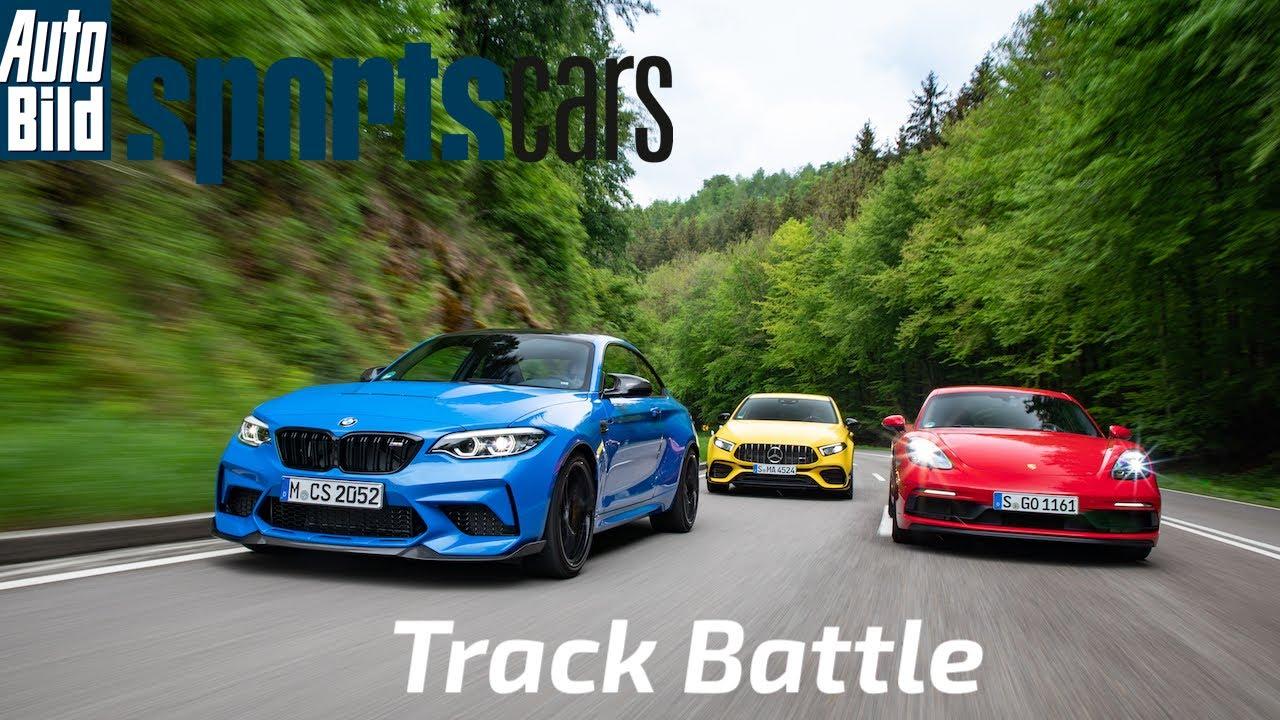 TRACK BATTLE: BMW M2 CS vs Mercedes-AMG A45 S vs Porsche 718 Cayman GTS 4.0