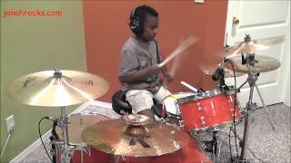 KISS - Detroit Rock City, 8 Year Old Drummer, Jonah Rocks