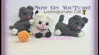 Rainbow Loom Kitty Cat Loomigurumi Amigurumi Hook Only Кот Лумигуруми