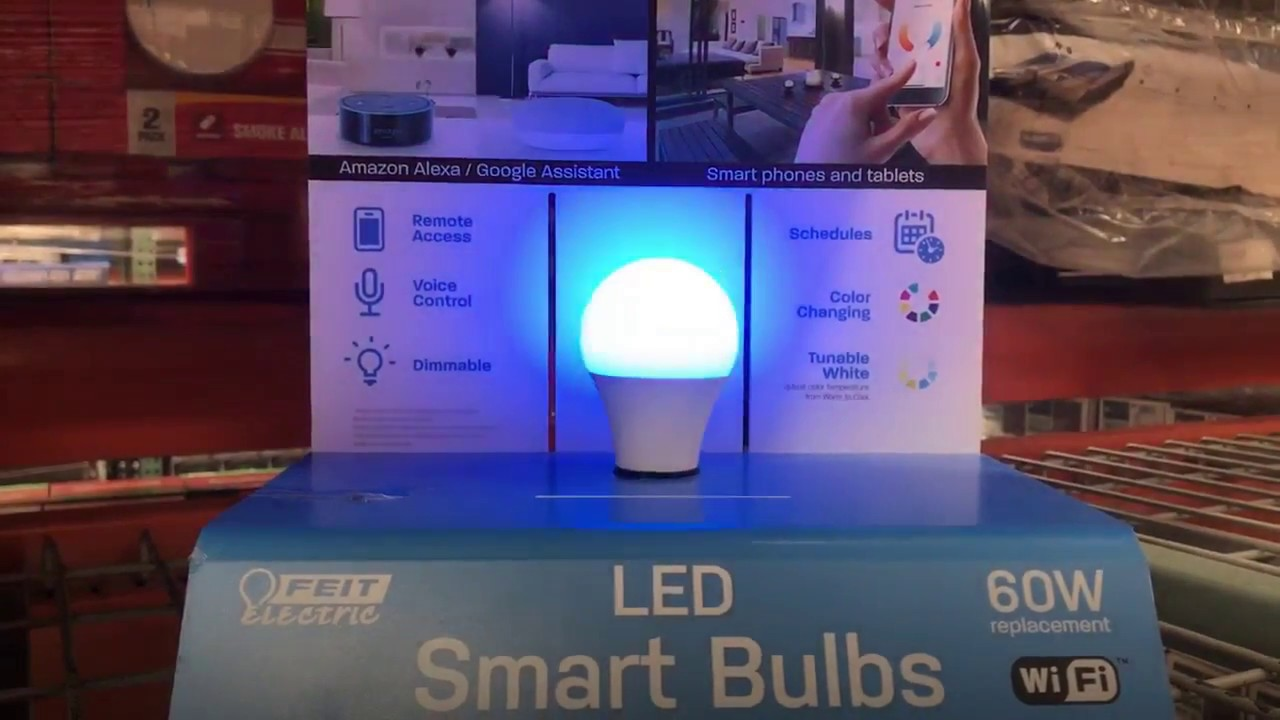 At Costco Feit Electric Wifi LED Smart Bulbs Color Changing $29 99 2 Pack!!