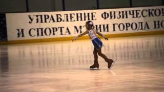 Юный фигурист Алентьева Вика, 5 лет. г.Новосибирск. 2 место