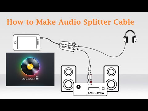 how to make audio splitter cable for djay dj apps youtube