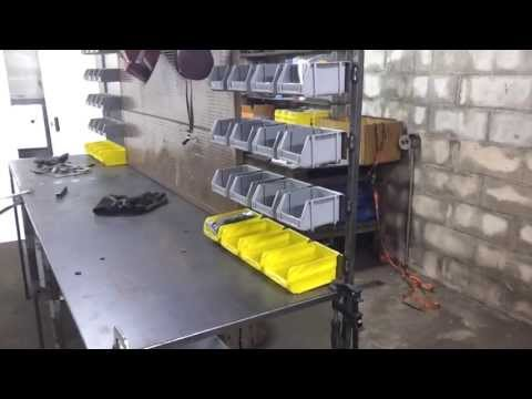 Custom Metal Work Bench/Shop Storage - Part 6