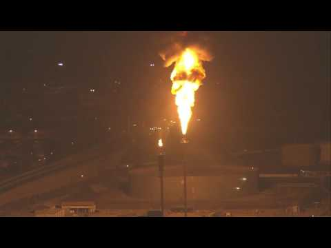 Power outage causes 'flare-off' event at oil refinery