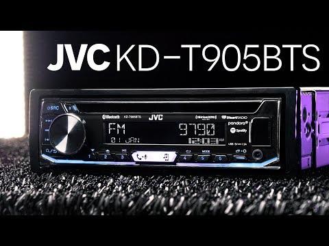 JVC KD-T905BTS Single DIN Bluetooth Receiver - 5V Pre-Amp Outputs