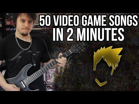 50 Video Game Themes On Guitar in Less Than 2 Minutes (FamilyJules7x)
