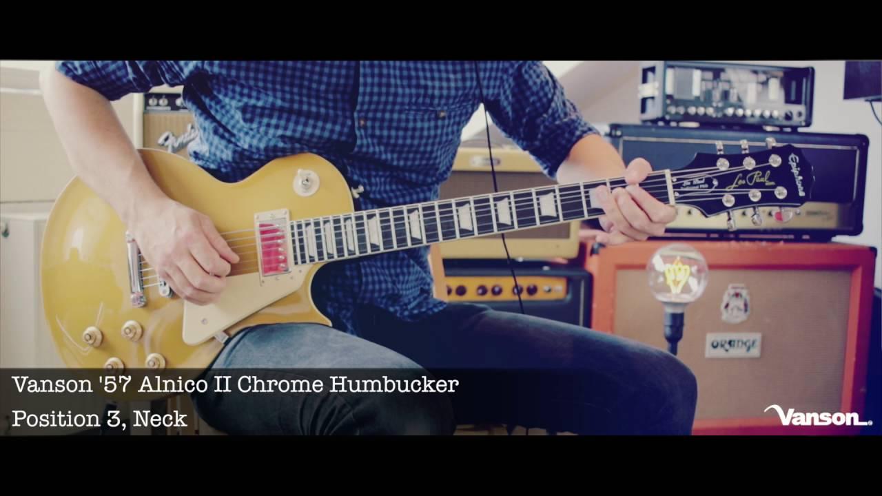 VANSON 57 Alnico II PAF style Nickel Coloured Humbucker SET for Gibson SET Neck /& Bridge Epiphone etc.